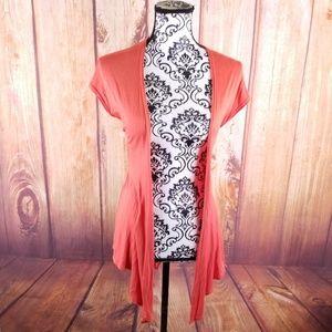 Ivy Jane Orange Sleeveless Supersoft Open Cardigan